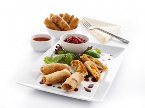 Mini Veg Spring Roll Sweet Chilli Sauce